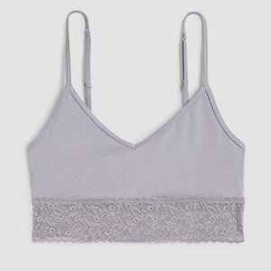 NWT Calvin Klein Bare Lace Cotton Grey Bralette